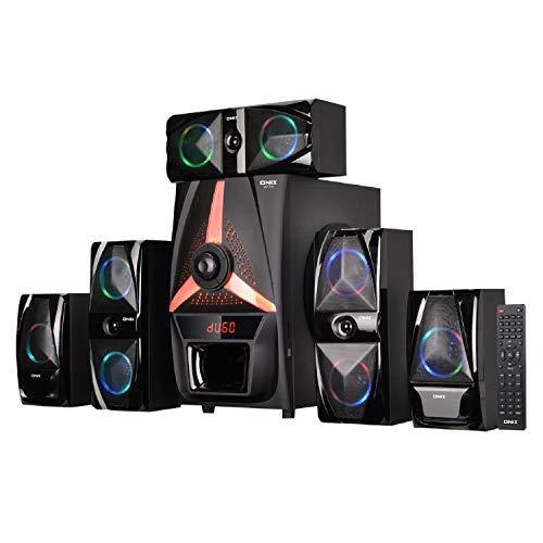 Onix OHT-350 150 Watts 5.1 Channel Multimedia Speaker System with USB/SD/MMC Card/Bluetooth/FM Radio & Remote Function (Black)