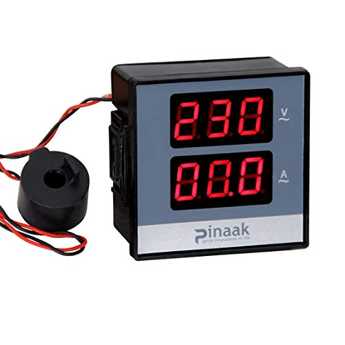 araMarket Digital Panel Meter AC Voltage Range Up to 500v AC Current Rang Upto 50amp (Ct with 12inch Wire Length)