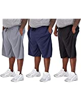 3 Pack: Men's Big and Tall Mesh Active Quick Dry Fit Active Athletic Plus Size Clothing Workout Summer Gym Clothes Sleeping Basketball Gym Shorts Casual Exercise Elastic Running Essentials- Set 4, 3X