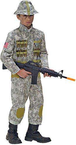 Widmann 76566. Kostuum Soldat, in maat 5/7 jaar.