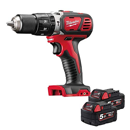 Milwaukee M18BPD-0 18v Combi Hammer Drill with 2 x 5Ah Batteries