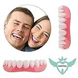 Dentadura Instant Smile Carillas Dientes 2 Piezas Temporal Prótesis Dental para Cuidado Bucal