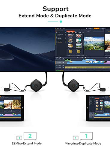 Yehua Miracast HDMI Dongle,Wireless WiFi Display Dongle Streaming Videoempfänger, Unterstützung Miracast DLNA Airplay für iPhone / iPad / iOS / Android / Mac OS auf HDTV / Monitor / Projektor
