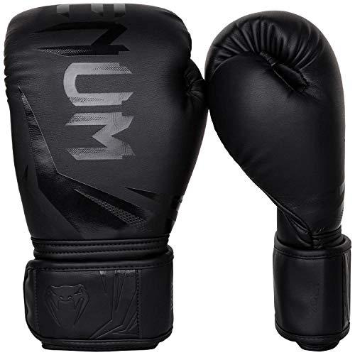 Venum Challenger 3.0 Boxhandschuhe, Schwarz/Schwarz, 12 oz
