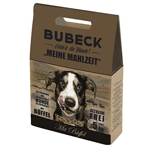 BUBECK   getreidefreies Trockenfutter   Verschiedene Sorten   Premium Trockenfutter für ausgewachsene Hunde Aller Rassen (Büffel, 5 Kg)