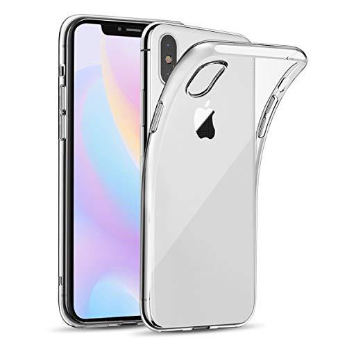 Bodyguard Hülle für iPhone X/ iPhone XS , Handyhülle für iPhone 10, [Crystal Clear] Soft Silikon Bumper Case Cover, Ultra Dünn Durchsichtige Schutzhülle - Transparent