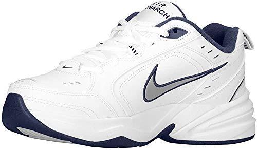 Nike AIR Monarch IV,White/METALLIC, weiß(whitemetallicsilver), Gr. 10½