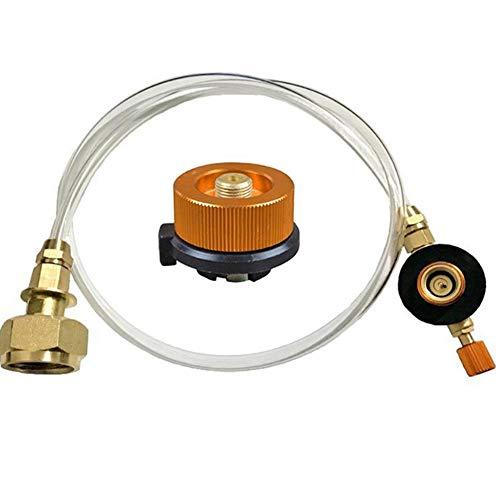 Andifany Adaptador de Recarga de Propano para Estufa de Gas al Aire Libre Acoplador de Tanque de Cilindro Plano Quemador Adaptador de Botella Guardar Accesorios