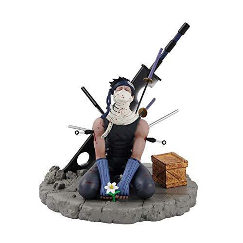 CZWNB Pfirsich-Land, das EIN Messer trägt und Niemals kämpfende Kampfausgabe Nebel versteckte Ghost-Mann-Box-Figur-Statue-Modell-Dekoration