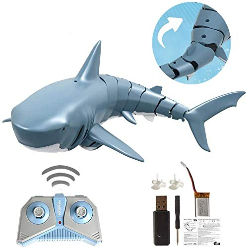 Fernbedienung Shark Electric Swinging Simulation Shark Boat mit USB-Aufladung für Swimming Pool Seaside Water Games Kinder Erwachsene Sommergeschenk