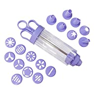 Sopplea Cupcake Injector/Decorating Icing Set, 19-Piece Set,Filling volume: 250 ml