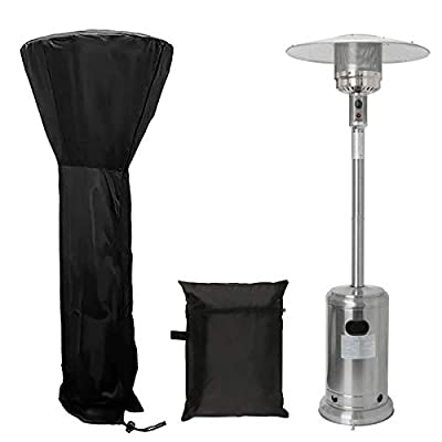 """EddHomes Patio Heater Cover Waterproof with Zipper, Standup Outdoor Heater Covers 89 Inch Round Patio Heater Covers Universal Protected Cover for Heaters (89'' H x 33"""" D x 19"""" B/Upgraded/Thicker)"""