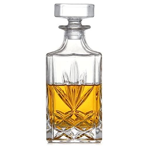Decantador de Whisky, Botella de Vidrio, Jarra de Alcohol, Espíritu,Decantador de Licor, Decantador de Licor de Vidrio con Tapón Hermético,C