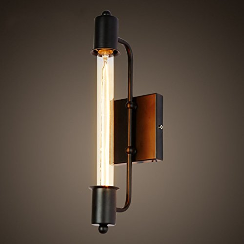 ZWL Retro Iron Bar Strip Applique Lampe Lampe de chevet, Loft Corridor Lights E27 Living Room Lampe murale 40 * 6CM Escalier Balcon Lampe murale Étude Café Luminaires Corridor Lights mode ( taille : 40*6CM )