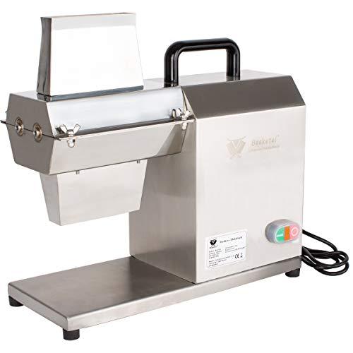 Beeketal 'BES-450' Eletrischer Steaker aus Edelstahl mit 27x2 Messerreihen, Einfüllschacht ca. 125 x 25 mm, 450W Motor, Fleischzartmacher aus Edelstahl für knochenlose Fleischteilstücke