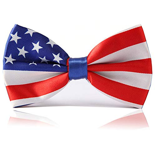 Heypet Colorful Striped Bow Tie,Adjustable Bowtie Fashion Accessories for Pet Dog Cat DLJ15 (American Flag)