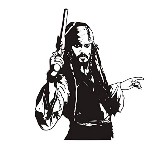 Stycars®, Wall Stickers Captain Jack Sparrow Vinyl Decal Pirates Art Adventure Decorations For Home Kids Room Bedroom Nursery Decor [Size: 42x52cm]