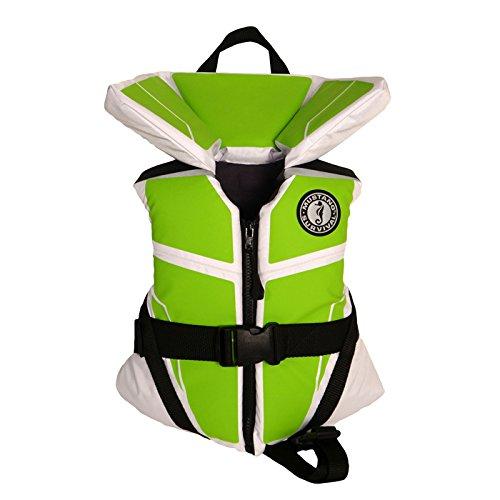MUSTANG SURVIVAL MV3250 255 Lil' Legends 100 Vest White/Green Infant
