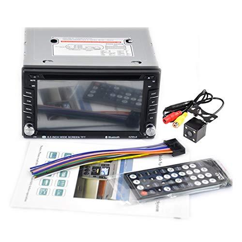 VIGORFLYRUN PARTS LTD 2 DIN 6,5 pollici Bluetooth HD Lettore DVD/CD Auto Radio Touchscreen Auto Video Player USB SD FM AM RDS vivavoce
