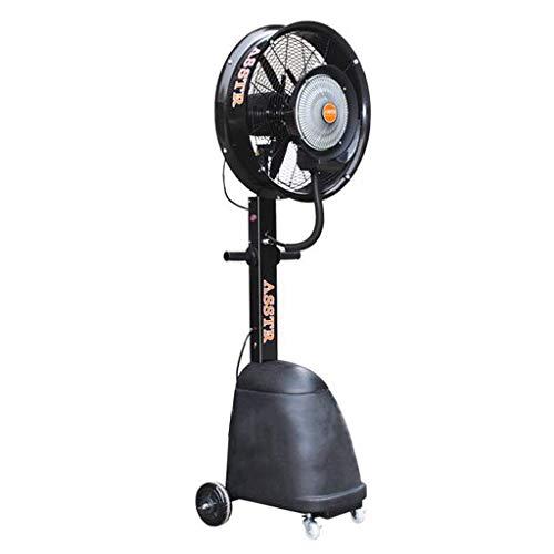 ZRX-Ventilatori Ventilatore a piedistallo Industriale Oscillante Verticale con Nebbia Spray umidificatore Circolatore Ventola di Raffreddamento Mobile Rotante Heavy Duty 30L 260W