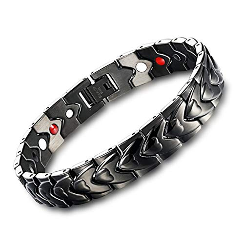 Flyfire Men Classic Elegant Titanium Magnetic Therapy Bracelet Pain Relief for Arthritis and Carpal Tunnel Therapy Bracelet Gift