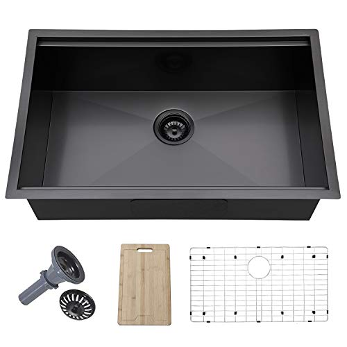 Large Undermount Single Bowl Stainless Steel Kitchen Sink Dimensions