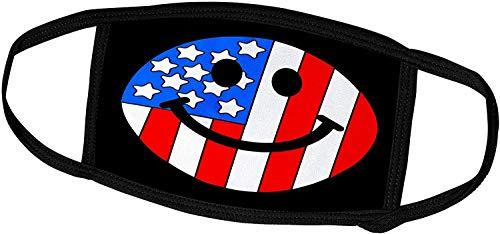 Keyboard cover Smiley Face Collection-Amerikanische Flagge Smiley Face-Patriotic USA 4. Juli Unabhängigkeitstag Happy Smilie auf Black-Face-Masken