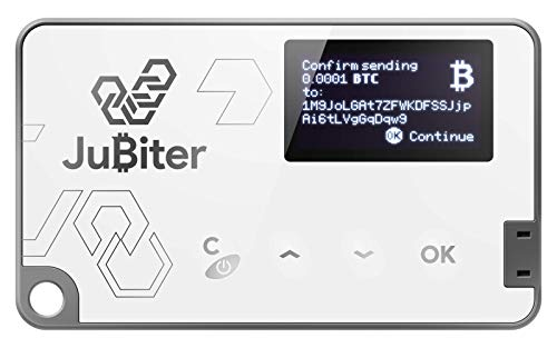 JuBiter Cryptocurrency Wallet Bluetooth und USB Hardwarewallet zum Aufbewahren von Kryptowährungen wie BTC, ETH, ERC-20.