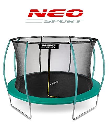Neo-Sport Gartentrampolin Trampolin 366 cm für Kinder Komplettset mit Innen-Sicherheitsnetz Leiter Federabdeckung Sprungmatte