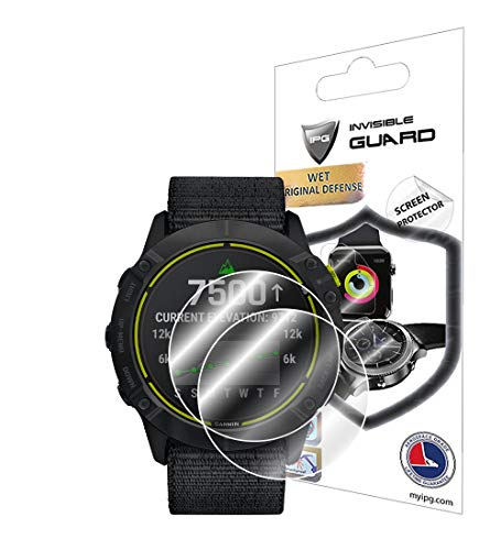 IPG for Garmin Enduro Multisport GPS Watch Screen Protector (2 Units) Invisible Ultra HD Clear Film Anti Scratch Guard-Smooth/Self-Healing/Bubble -Free