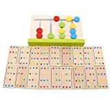 qwert Cuatro Colores a Juego 1set Preescolar Entrenamiento Juguetes de Aprendizaje Juego de Rompecabezas para bebés para Juguetes educativos de la Primera Infancia, como en la Imagen