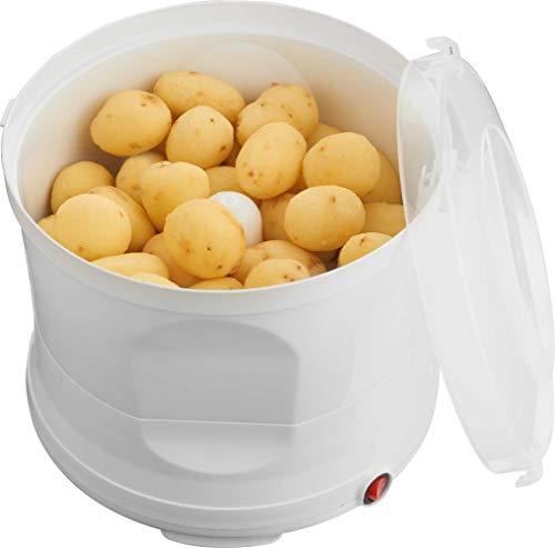MELISSA Kartoffelschälmaschine, 1kg, elektrische Kartoffelschäler, Kartoffel Schälmaschine, Kunststoff, weiß, 60 Watt