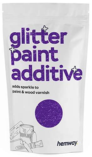 Hemway Glitzerlackzusatz Mischfarben auf Wasserbasis für Wand Decke - 100g - Lila