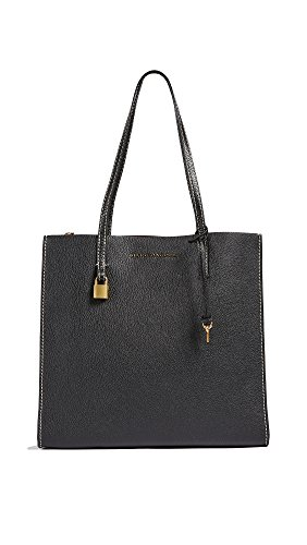 Marc Jacobs Women's The Grind Shopper Tote Bag, Black/Gold, One Size