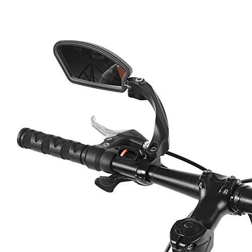 Delaman achteruitkijkspiegel, Fiets Rechts Links Stuur Review Achteruitkijkspiegel 180 Rotatie Spiegel voor Mountainbike 1PC