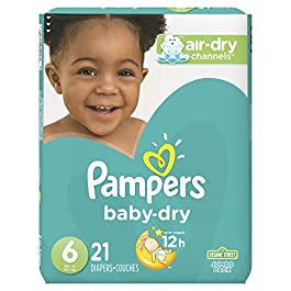 Diapers Size 6, 21 Count – Pampers Baby Dry Disposable Baby Diapers, Jumbo Pack