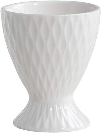 Preisvergleich für Eierbecher DIAMONDS ROUND H. 6cm D. 5cm rund weiß Porzellan Maxwell & Williams
