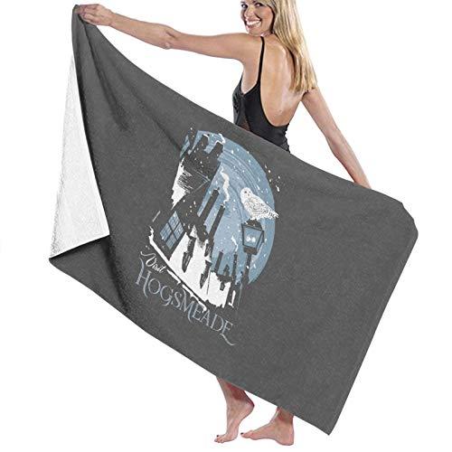 U/K Visit Hogsmeade - Toalla de baño, secado rápido, color gris