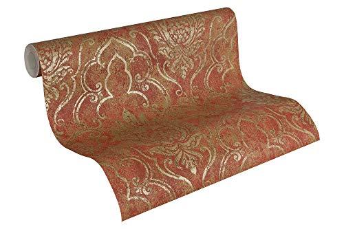 A.S. Création Tapete Bohemian, Mustertapete, klassisch, orientalisch, braun, metallic, rot, 945334