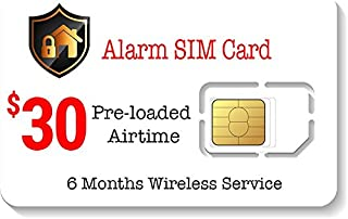 $30 Alarm SIM Card for GSM Home/Business Security Alarm System
