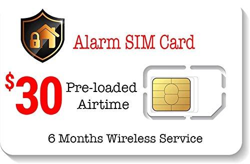 $30 Alarm SIM Card for 4G GSM Home/Business Security Alarm System