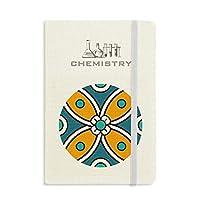 抽象的な花のモロッコ風のパターン 化学手帳クラシックジャーナル日記A 5