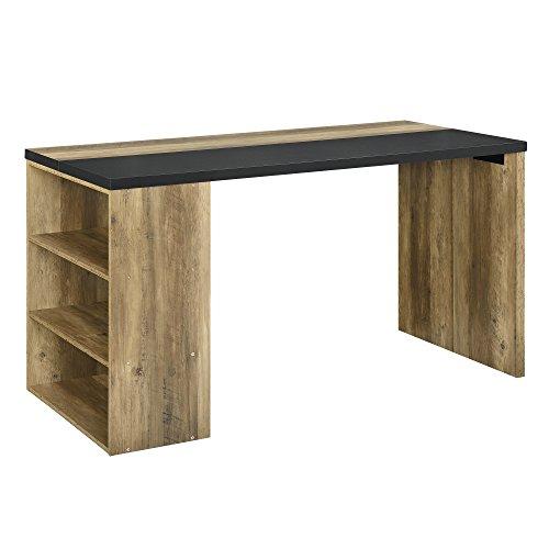 [en.casa] Design Schreibtisch 140x68x77cm Stilvoll Arbeitszimmer Arbeitstisch Computertisch Holzfarben/Grau