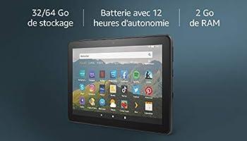 """Nouvelle tablette Fire HD 8, écran HD 8"""" (20,3 cm), 32 Go (Noir), avec offres spéciales"""