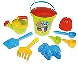 Lena 5422 Happy Sand Jungs II, Eimergarnitur 10-TLG, Sandspielzeug Set für Kinder ab 2 Jahre,...