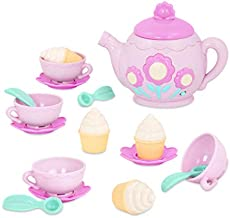Play Circle by Battat – Pink La Dida Musical Tea Party Set – Teapot with Songs & Sounds, Cupcakes, Baby Spoons, and Cups – Pretend Play Toy Kitchen Accessories for Kids Ages 3 and Up (17 Pieces)