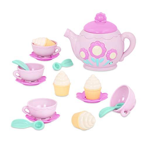 PLAY Circle – Musikalisches Teeservice Set – Teeparty Teetassen, Cupcakes und Teekanne mit Melodien und Geräuschen für Kinder ab 3 Jahren (17 Teile)