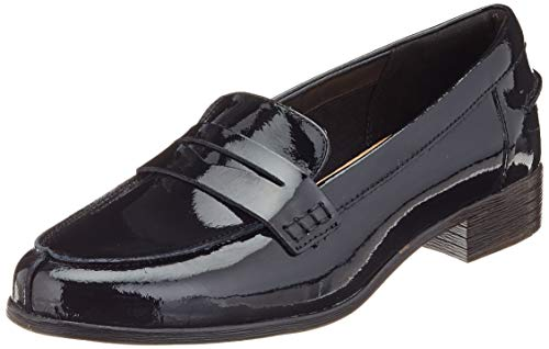 Clarks Hamble Loafer, Mocassini Donna, Nero (Black Pat Black Pat), 40 EU