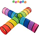 NUBUNI Tunnel x4 XXL : Tunnel Kinder : Kriechtunnel : Krabbeltunnel für Kinder : Spieltunnel Kind :...