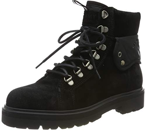 Tommy Hilfiger Damen Reflective Detail LACE UP Boot Stiefeletten, Schwarz (Black 990), 39 EU